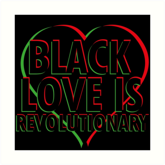 RED BALCK AND GREEN BLACK LOVE PIC